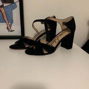 Sam Edelman Black Suede Orlane Sandals